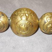 x3 Honi Soit Qui Mal y Pense Military Buttons